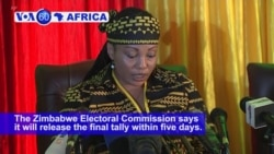 VOA60 Africa - Close result predicted as Zimbabweans await election result