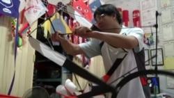 台湾脚踏车风筝童玩节吸眼球