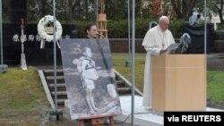 Папа Франциск в городе Нагасаки, Япония. 24 ноября 2019 г.