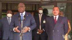 """Tshisekedi à Brazzaville : """"Nous n'allons pas vers une rupture de la coalition"""""""