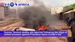 VOA60 Africa - 9 Dead as Guineans Protest President's Bid to Extend Power