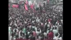 巴基斯坦民眾抗議什葉派清真寺被炸