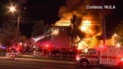 Trágica explosión en incendio en Silver Spring, Maryland