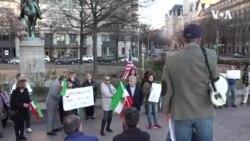 İranlı Amerikalılar həyatını itirənlərə yas tutur, Tehran hökümətinə etiraz edir