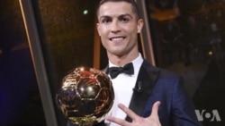 VOA Sports du 7 décembre 2017 : cinquième Ballon d'or pour Cristiano Ronaldo (vidéo)