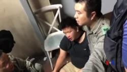 香港北角一名穿黑衣男子被近十名人士圍毆