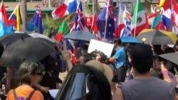香港政界高层推《禁蒙面法》示威者说不会惧怕