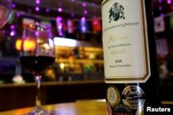 北京一家酒吧里的澳大利亞葡萄酒