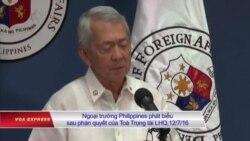 Philippines cảm ơn sự ủng hộ của Ấn Độ về vấn đề Biển Đông