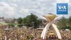 Alpha Condé en campagne devant une marée humaine à Nzérékoré