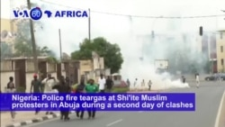 VOA60 Africa - Nigeria: Police fire teargas at Shi'ite Muslim protesters in Abuja