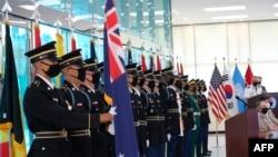 27일 판문점에서 한국전쟁 정전 67주년 기념식이 열렸다.