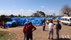Ajuda americana chega com filtros de água para evitar cólera