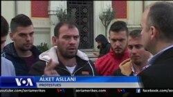 Protesta e banorëve të Zharrëzës në Tiranë