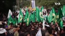 數千名伊拉克人為蘇萊曼尼送葬