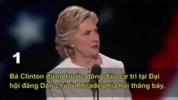 5 khoảnh khắc đáng nhớ nhất về bà Clinton