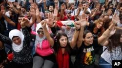 تظاهرات ضددولتی در بیروت، پایتخت لبنان