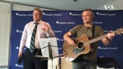 South African Singer Robin Auld Performs With Author Greg Mills in Washington DC
