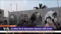 Le bilan de la répression dépasse 100 morts au Soudan