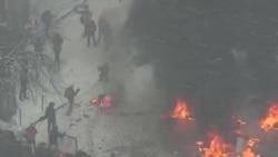 烏克蘭抗議者和政府對峙局勢緊張