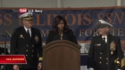 Đệ nhất phu nhân Mỹ 'bảo trợ' tàu ngầm tối tân nhất