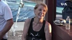 VOA英语视频: 美国86岁妇女创造空中飞人传奇