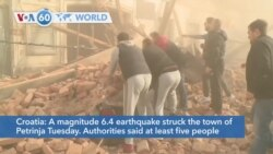 VOA60 World - At least five killed, 20 injured as strong earthquake strikes Croatia