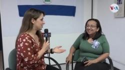 La Voz de América entrevista a Lucía Pineda