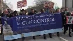 枪支管制的支持者在华盛顿游行示威
