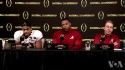 阿拉巴马大学获得美式橄榄球全美大学冠军