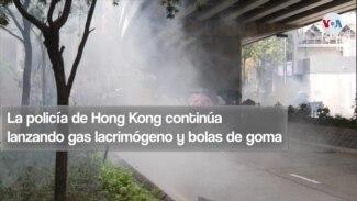 Continúan las protestas en Hong Kong y la policía lanza gas lacrimógeno y bolas de goma a los manifestantes
