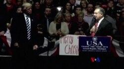 美國當選總統川普重返政治競選活動