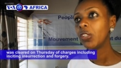 VOA60 Africa - Rwandan High Court Clears Opposition Leader of Charges