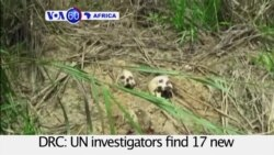 VOA60 Africa - UN investigators find 17 new mass graves in central DRC