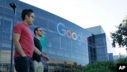 位于加利福尼亚州的谷歌公司总部大楼。(资料照)