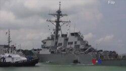 """報告:""""麥凱恩號""""撞船事件起因是""""突然轉向"""""""