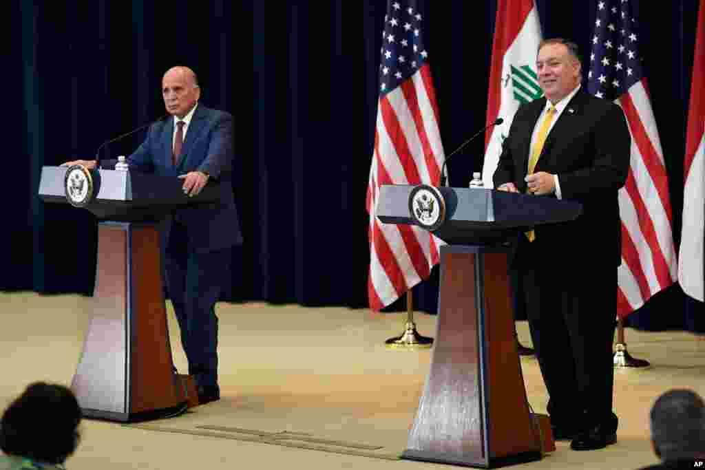 وزیر خارجه آمریکا در پایتخت ایالات متحده میزبان وزیر خارجه عراق بود. آمریکا اعلام کرد بیش از ۲۰۰ میلیون دلار برای تامین نیازهای اساسی و بهداشتی به عراق پرداخت میکند.