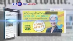 VOA60 Elections - USA Today: Green Party presidential candidate Jill Stein was escorted by police from Hofstra University