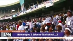 Hommages à Etienne Tshisekedi au stade des martyrs