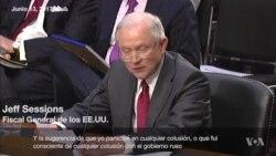 Sessions niega confabulación con los rusos