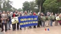 2016-01-19 美國之音視頻新聞: 南中國海緊張之際 越南抗議者紀念西沙之戰