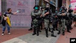 2020年5月27日防暴警察在香港。