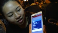Raw Video of Hong Kong Student Protesters Who Use FireChat App