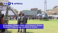 VOA60 Africa - Mugabe Will Have Private Burial at National Heroes' Acre