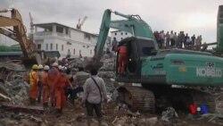 柬埔寨施工大樓倒塌17死24傷