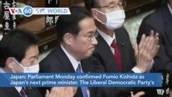 VOA60 Addunyaa - Fumio Kishida confirmed as Japan's next prime minister