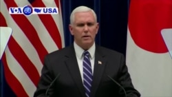 VOA60 America - Pence Announces US to Issue 'Toughest, Most Aggressive' North Korea Sanctions