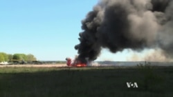 Ukrainian Military Helicopter Downed (voiced report)