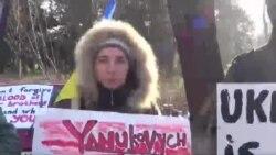 Strasburqda Ukrayna xalqına dəstək aksiyası keçirlib