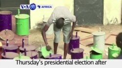 VOA60 Africa - Gambia: Polling agents prepare for Thursday's presidential election
